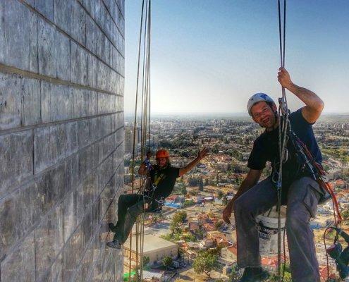 צוות אלכסטרים בגובה בבאר שבע